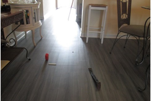 Forensice Floors - Undulation Shifting on wooden or tile floors.